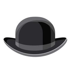 Black hat icon cartoon style vector