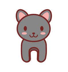 Cartoon gray cat animal image vector