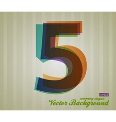 Color transparency symbol 5 vector