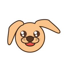 cute doggy face kawaii style vector image