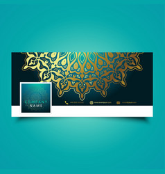 decorative mandala social media timeline cover vector image vector image