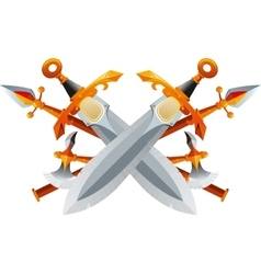 Fantasy Weapon Set vector image