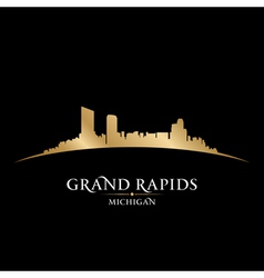 Grand Rapids Michigan city skyline silhouette vector image