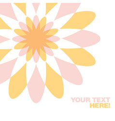 Greeting card with geometric flower vector