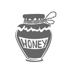 jar of honey silhouette vector image vector image