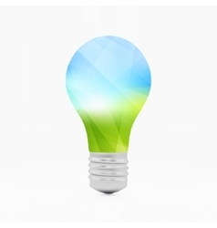 Lightbulb eco symbol 3d vector