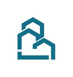 Line building logo vector