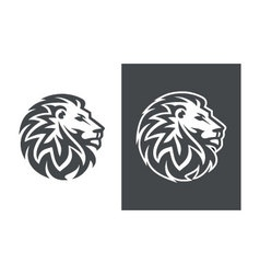 lion head logo design abstract lion logo vector image