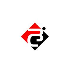 Modern logo solution letter bc vector