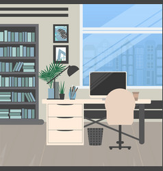 Modern office design vector