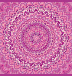 Pink mandala fractal ornament background - round vector