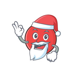 Santa bowling ball character cartoon vector