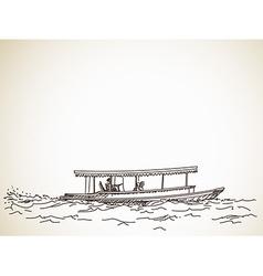 Sketch of boat taxi vector