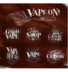Vape symbols brown vector