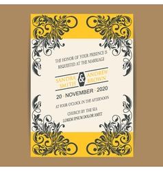 Wedding vintage wedding invitation vector