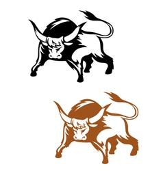 Wild buffalo bull vector