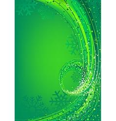 Green abstract christmas vector