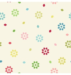 Colorful seamless branches background vector image