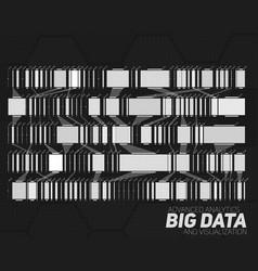 Big data grayscale visualization vector
