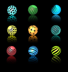 Sphere 3d objects with texture vector