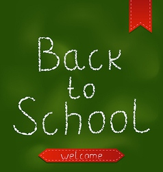 Back to school background with ribbons vector
