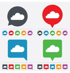 Cloud sign icon data storage symbol vector