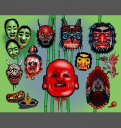 Asian masks vector