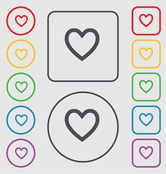 Medical heart love icon sign symbol on the round vector