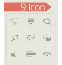 Bulds icon set vector