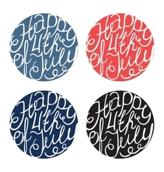 Happy independence day handlettering elements vector
