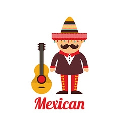 Mexican culture design vector