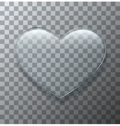 Modern glass heart on sample background vector