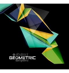 color geometric shapes on black background vector image
