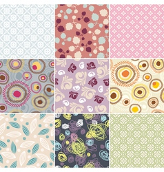 Simple seamless patterns vector