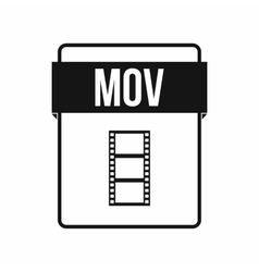 MOV file icon simple style vector image
