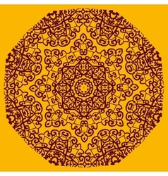 Ornamental henna mandala card geometric circle vector