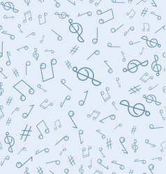 Abstract seamless pattern with music notes vector
