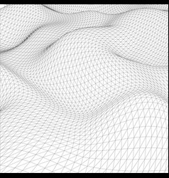 abstract wire-frame grid vector image vector image