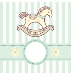 baby card with lovely horsey vector image vector image