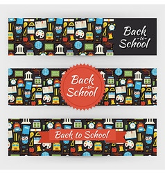Back to School Knowledge and Education Template vector image vector image