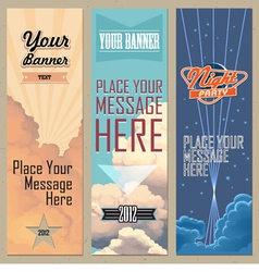 banners vertical vector image vector image