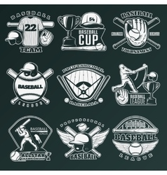 Baseball Monochrome Emblems vector image