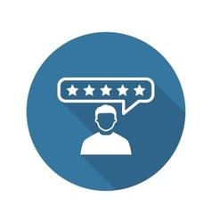 Customer Reviews Icon Flat Design vector image vector image