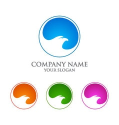 Eagle logo emplate falcon hawk logo desig vector