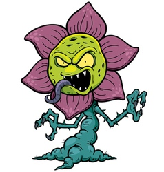 Flower monster vector image vector image