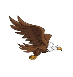 Flying eagle 3 vector image