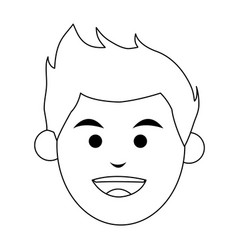 Head of smiling man icon image vector