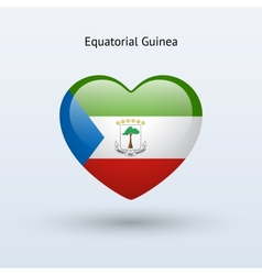 Love equatorial guinea symbol heart flag icon vector