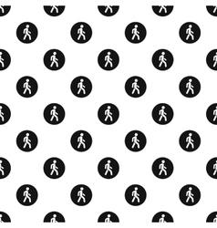 Man on pedestrian crossing pattern simple style vector