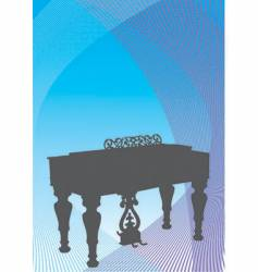 musical harpsichord vector image vector image